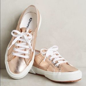 Superga 2750 Cotmetu Rose Gold Platform Sneakers